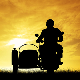 man on the sidecar